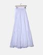 Falda maxi blanca con cintura elastica Zara