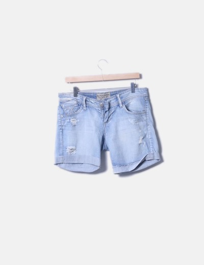 Short denim azul claro