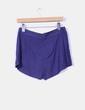 Mini falda pantalón azul marino estampado Pull&Bear
