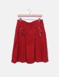Falda midi mircropana roja Adolfo Dominguez
