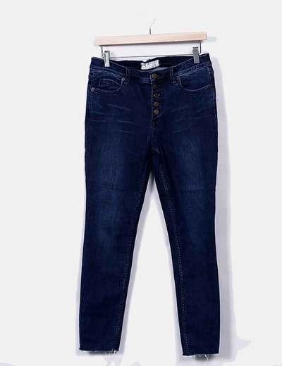 Jeans bleu foncé boutons de denim Free People