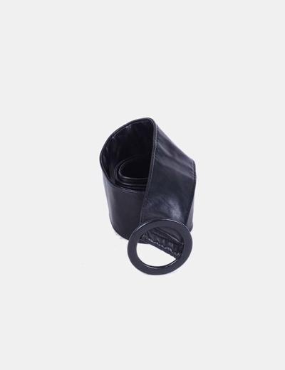 Cinturón negro ancho efecto piel NoName