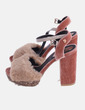 Sandalia de tacón velvet plataforma glitter Gioseppo