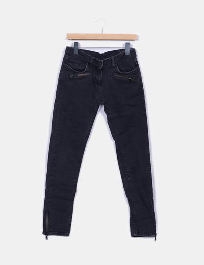 Jeans noirs fermetures éclair Sandro