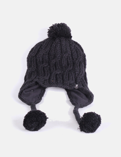 ab37e1c1cba Wed ze Gorro negro de lana con pompones (descuento 85%) - Micolet
