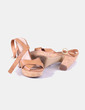 Sandales camel à talon et plate-forme Lefties