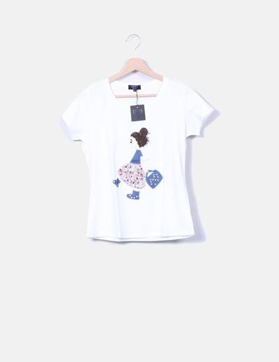T-shirt blanc Anna Sui