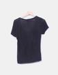 Camiseta tricot negra escote redondo Mango