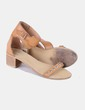 Sandalias  camel con tachas Lefties