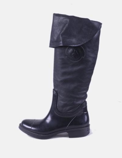 Botas de agua combinadas negro