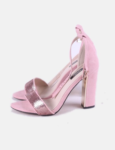 Sandalia rosa pailettes