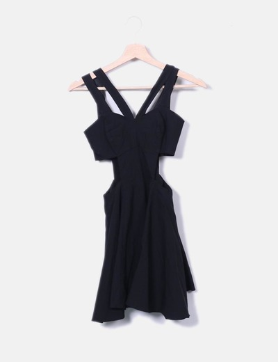 Black dress openings Asos