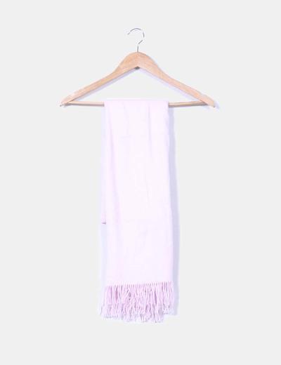 Bufanda rosa con flecos NoName