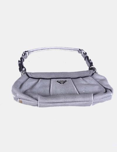Bolso pochette gris cierre caiman