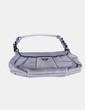 Bolso pochette gris cierre caimán Prada