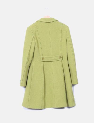 Abrigo verde texturizado