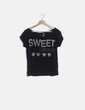 "Camiseta negra print ""Sweet dreams"" Stradivarius"