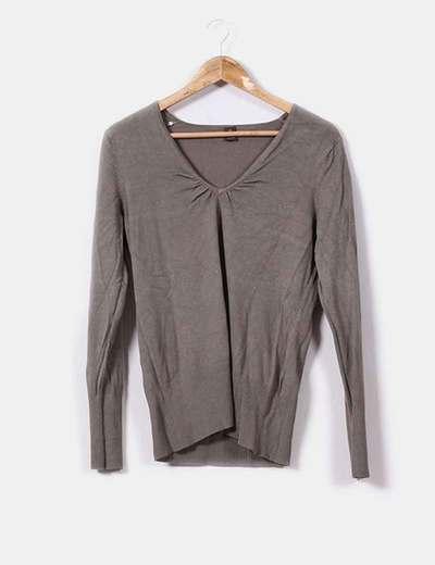 Suéter fino khaki  Ms mode