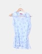 Blusa azul floreada sin mangas TRAZOS