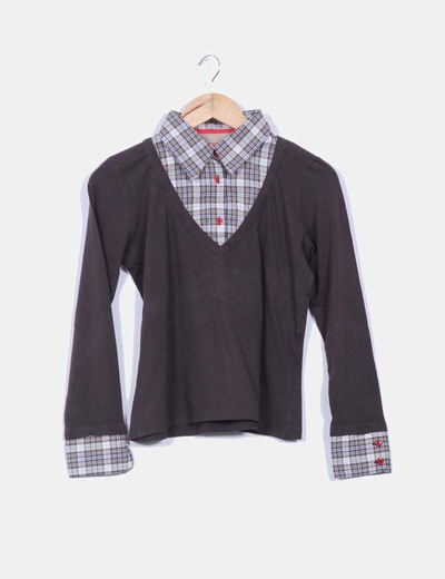 Camisa combinado tricot Lloyd's
