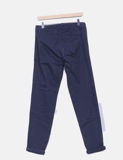 Pantalon azul marino corte chino