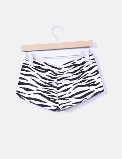 Shorts denim zebra Zara