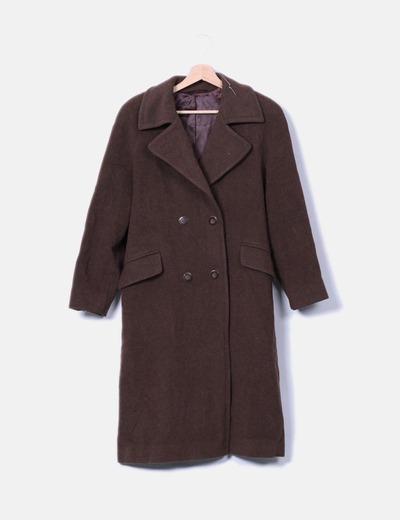 5fa06a72299 El Corte Inglés Abrigo largo paño marrón oscuro (descuento 94 ...