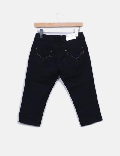 Jeans denim pirata negro