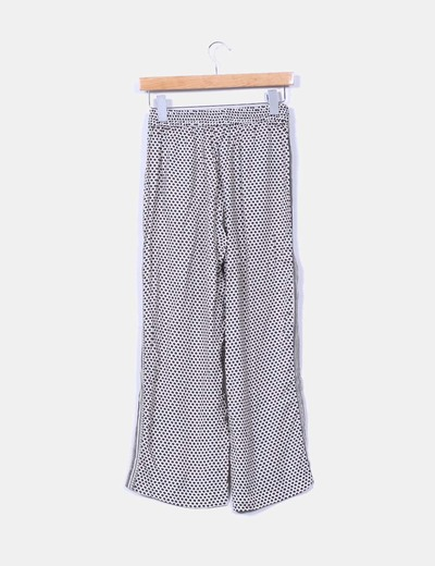 Pantalon fluido culotte estampado