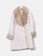 Beige coat with fur Anaïs