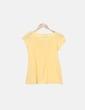Camiseta amarilla detalle lazo Zara