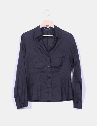 Camisa negra de ramio Amichi