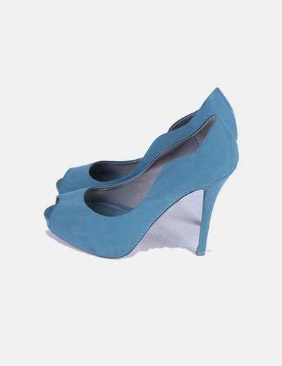 Zapato azul turquesa Bershka