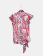 Blouse rouge imprimé de soie Diane Von Fürstenberg