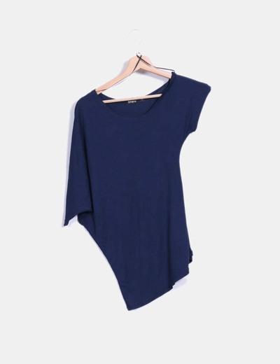 Camiseta asimétrica azul marino Shana