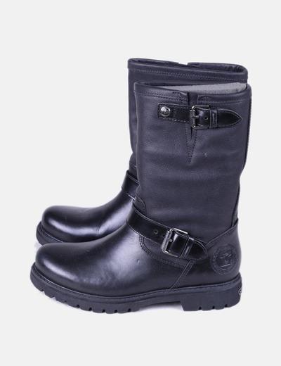 Bottes noires en cuir avec boucles Panama Jack