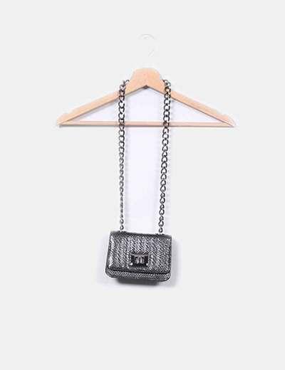Mini bolso negro con cadena Pilar Abril