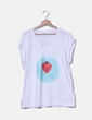 Camiseta blanca print Candy ladybug Be Happiness