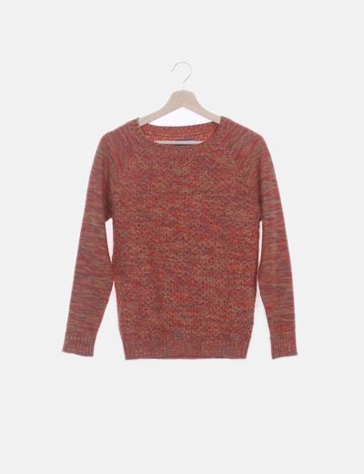 Jersey tricot jaspeado ticolor