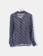 Camisa bicolor de rayas semi-transparente Dunnes Stores