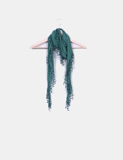 Pañuelo verde con puntilla NoName