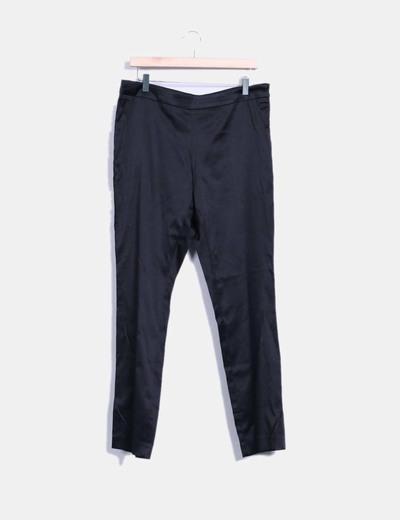 Pantalon noir en satin El Corte Inglés