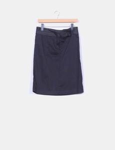 Falda midi negra cintura detalles polipiel Pepe Jeans 867b08c9b886