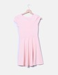 Vestido rosa palo texturizado Bershka