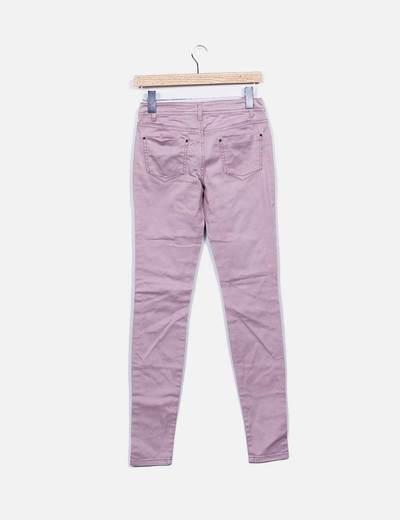 Jeans pitillo rosa