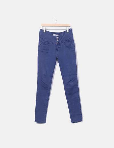 Pantalón denim azul sculpture Salsa