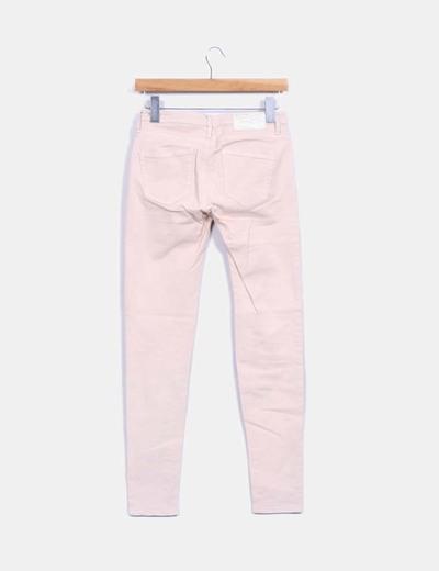 Jeans denim slim fit rosa palo