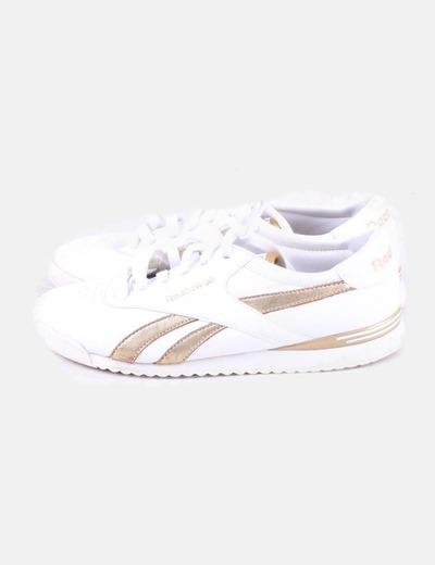 1fcaf21997b63 Reebok Zapatillas blancas con dorado Classic (descuento 78%) - Micolet