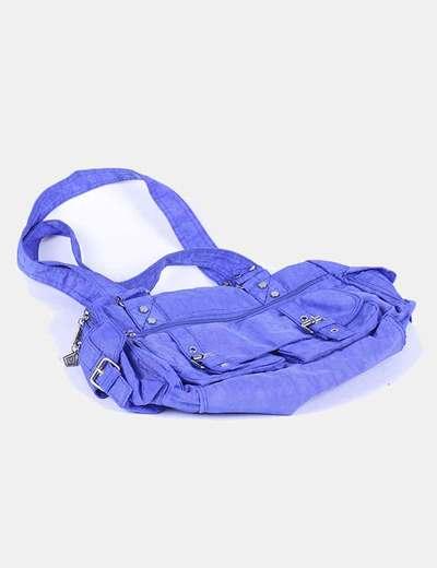 Bolso azul eléctrico satinado NoName