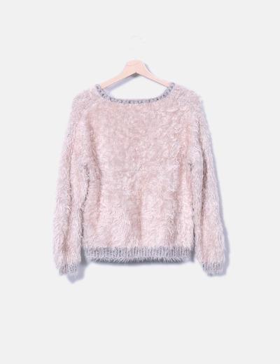 Jersey rosa de pelo